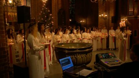 Lucia 2018 Mariakyrkan Helsingborg